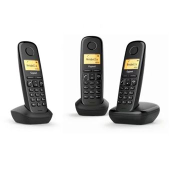 Telefone Sem Fios Gigaset A170 Trio - Preto