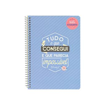Caderno Pequeno Mr. Wonderful - Tudo o que Consegui