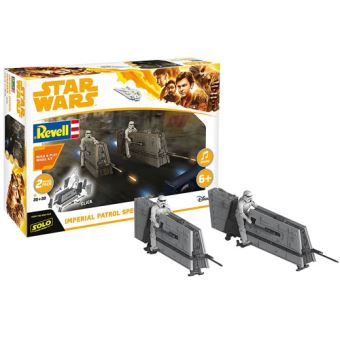 Kit Modelismo Revell Star Wars Han Solo: Imperial Patrol Speeder com Som e Luz