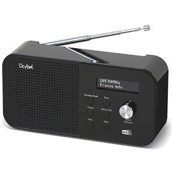 Rádio Portátil DCYBEL R300 DAB+ - Preto