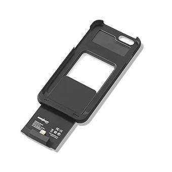 Capa com Mini Bateria Wireless para iPhone 6 - Preta