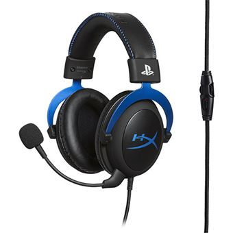 Auscultador Gaming HyperX Cloud para PS4 - Preto | Azul