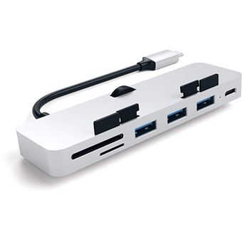 Adaptador USB-C Satechi Clamp HUB Pro - Silver
