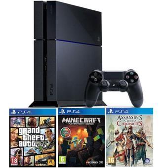 MinecraftConsola Sony PS4 500GB + GTA V + Minecraft + Assassins Creed: Chronicles
