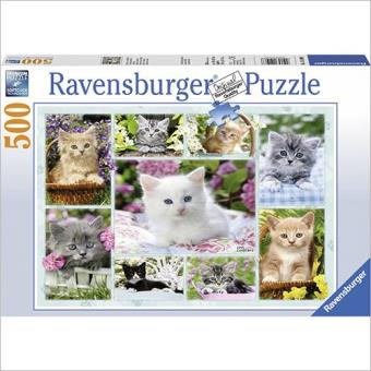 Puzzle Kitten In A Basket Jigsaw Puzzle (500 peças)
