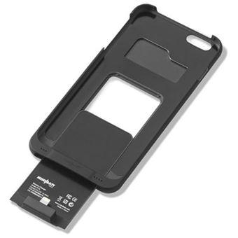 Capa com Mini Bateria Wireless para iPhone 6+ - Preta