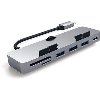 Adaptador USB-C Satechi Clamp HUB Pro - Space Gray