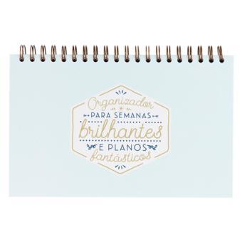Organizador Semanal Mr. Wonderful - Para Semanas Brilhantes e Planos Fantásticos