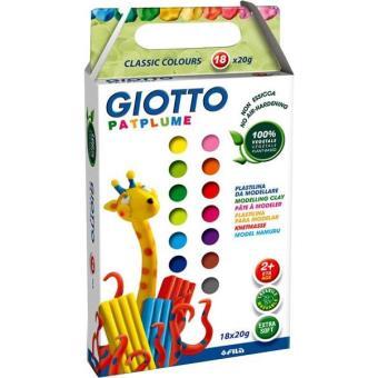 Plasticina Giotto Patplume - 18 Cores