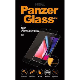 Película Ecrã Vidro Temperado Panzerglass para iPhone 8 Plus - Preto