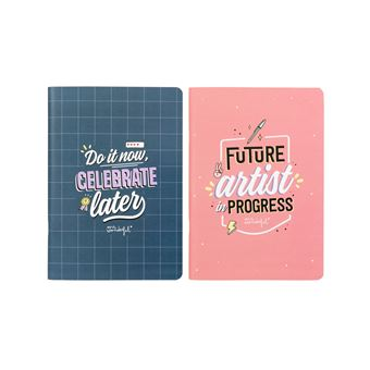 Conjunto de Dois Cadernos A5 Mr. Wonderful - Do it Now, Celebrate