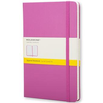 Caderno Quadriculado Moleskine Bolso Magenta