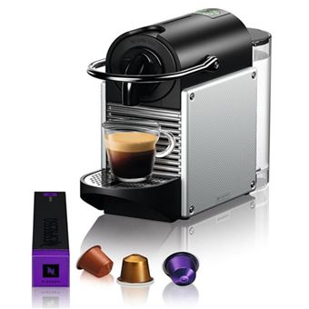 Máquina de Café Delonghi Pixie EN124.S para Nespresso - Prata
