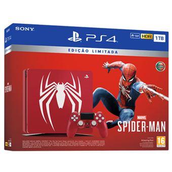 Consola Sony PS4 1TB Spider-Man Edição Limitada