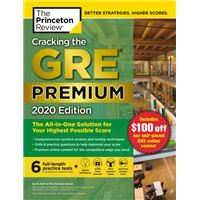 Cracking the GRE Premium  2020 Edition