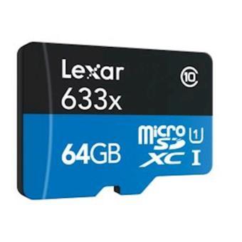 Lexar LSDMI64GBBEU633A 64GB MicroSDXC UHS-I Class 10 cartão de memória