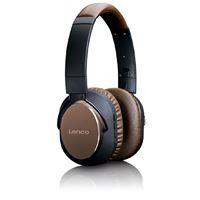 Auscultadores Bluetooth Lenco HPB-730 - Castanho