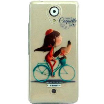 Capa Coquette para Wiko UFeel Lite - Transparente/Bicicleta