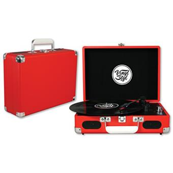 Vinyl Styl Groove Portable 3 Speed Turntable (Red)