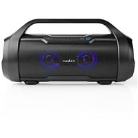 Coluna Bluetooth Nedis Party Boombox 60W - Preto