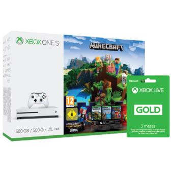 Consola Microsoft Xbox One S 500GB + Minecraft Story Mode