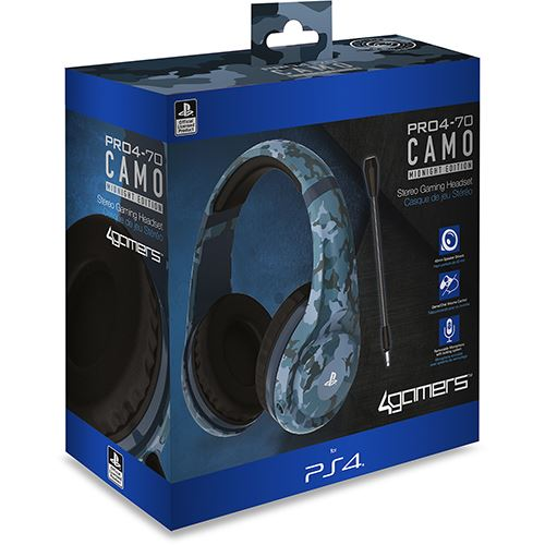 Auscultadores Gaming PRO4-70 4Gamers para Ps4 - Camo Midnight Edition