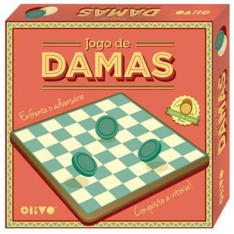 Jogo de Damas em Madeira - Olivo