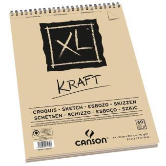 Bloco de Desenho Canson XL Kraft A5 90g