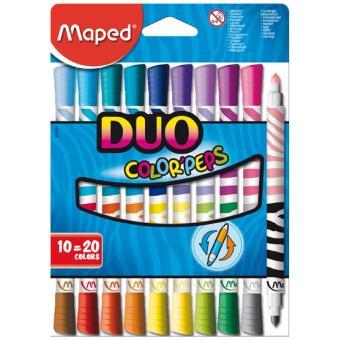 Canetas de Feltro Maped Color'Peps Duo - 10 Unidades, 20 Cores