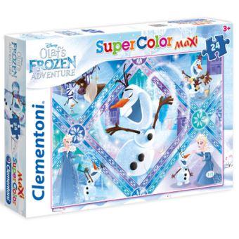 Puzzle Maxi Olaf`S Frozen Adventure - 24 Peças - Clementoni