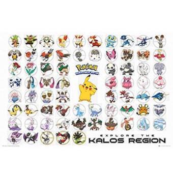 "Pokémon - Maxi Poster ""Kalos Region"""
