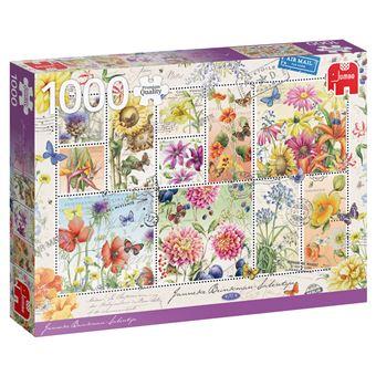 Puzzle Flower Stamps Summer  - 1000 Peças