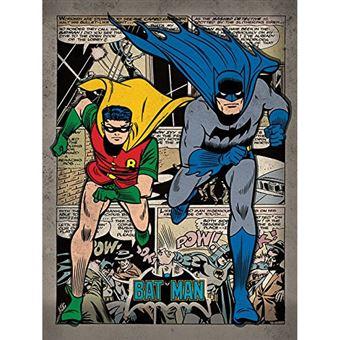 Tela com Moldura Batman Comic