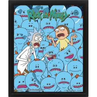 Poster 3D Lenticular Rick & Morty: Mr Meeseeks