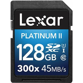 Cartão Memória MicroSDXC Lexar LSD128GBBAS300 300x - 128GB