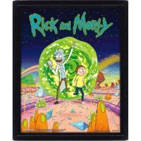 Poster 3D Lenticular Rick & Morty: Portal