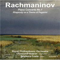 Rachmaninov: Piano Concerto No. 1 - CD
