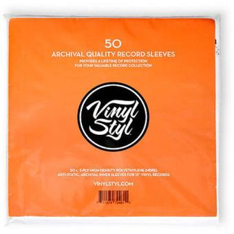 Vinyl Styl Archive Quality Inner Record Sleeve (50 Unidades)