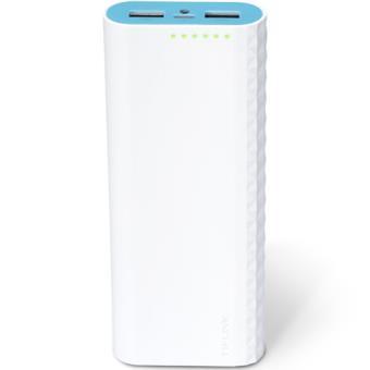 Power Bank TP-Link 15600 mAh - Branco | Azul