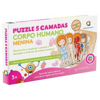 Puzzle 5 Camadas: Corpo Humano Menina - ambarscience