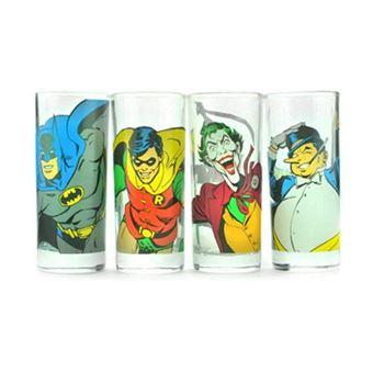GLASS-BATMAN-CHARACTERS X4