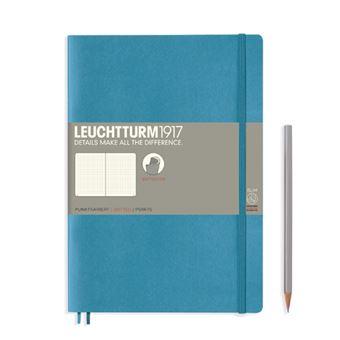 Caderno Pontilhado Leuchtturm B5 - Azul Nórdico