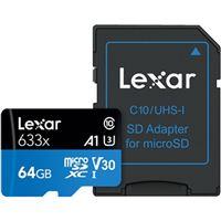 Cartão Memória MicroSDXC Lexar LSDMI64GBBAP633 V30 633x - 64GB