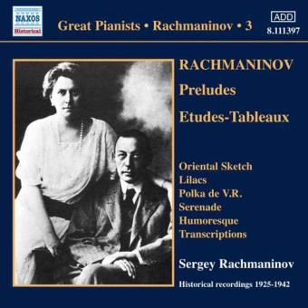 Rachmaninov - Solo Piano Recordings Vol.3