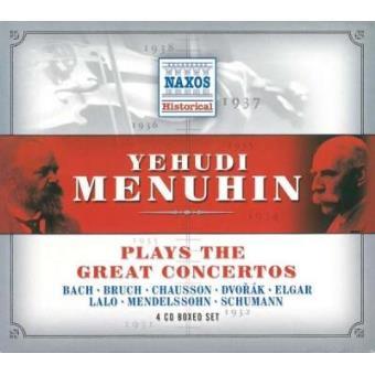 Yehudi Menuhin plays the Great Concertos (4CD)