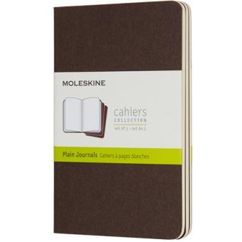 Cadernos Lisos Moleskine Cahier Bolso Castanho - 3 Unidades