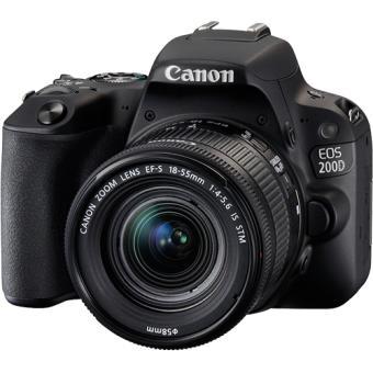 Canon EOS 200D + EF-S 18-55mm f 4-5.6 IS STM - Preto - Câmara Reflex ... 9c52538d8f1f