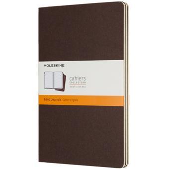 Cadernos Pautados Moleskine Cahier Grande Castanho - 3 Unidades