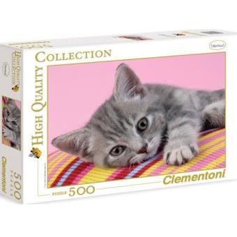 Puzzle Grey Kitten (500 Peças)