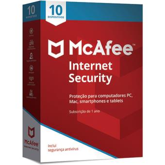 McAfee Internet Security - 10 Dispositivos - 1 Ano